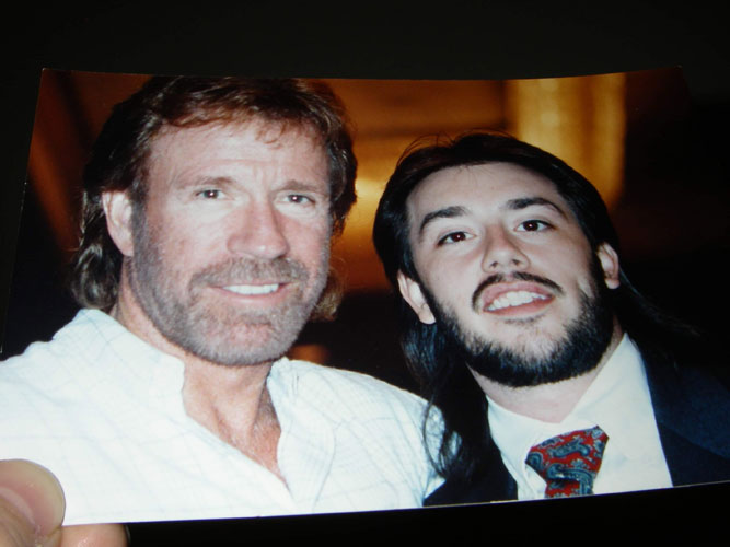 Mr. Chuck Norris and a young Shihan Steve Hunter (1992) - as Shihan worked with Mr. Norris to raise money for the Kick Drugs Out of America School Program
